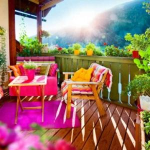 Aménager son balcon comme un coin de repos avec jardin