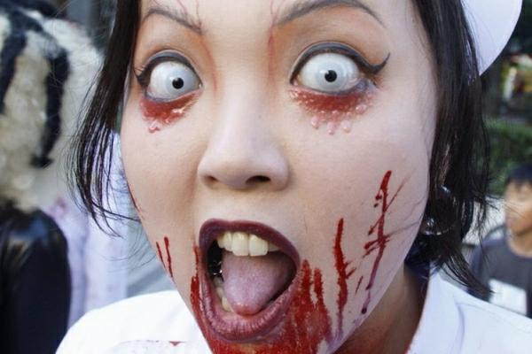 angoissante-infermière-maquillage-haloween-costumes de Haloween