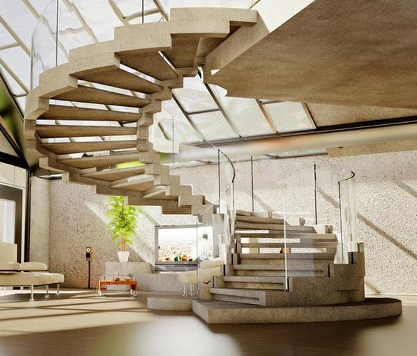 25 modèles d\' escalier spirale intérieur et extérieur - Archzine.fr