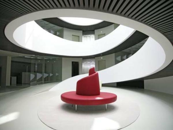Architecture futuriste intérieur