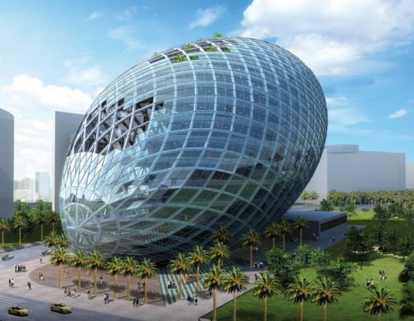 architecture-futuriste-l'oeuf-à-Mumbai