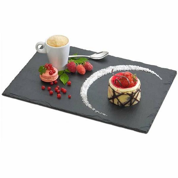 d corez vos tables et cr ez un beau style de vos repas avec une assiette ardoise. Black Bedroom Furniture Sets. Home Design Ideas