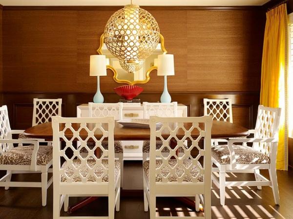 bahut-de-salle-à-manger-décoré-de-deux-lampes
