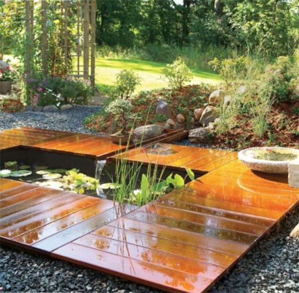 Id es de jardin zen for Decoration en bois pour le jardin