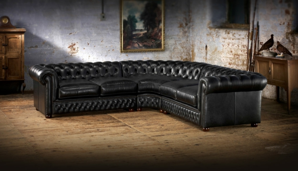 Un canap chesterfield le chic et le confort la maison - Canape d angle chesterfield cuir ...