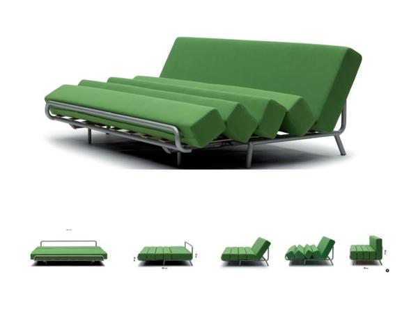 canapé-lit-design-élégant-en-vert