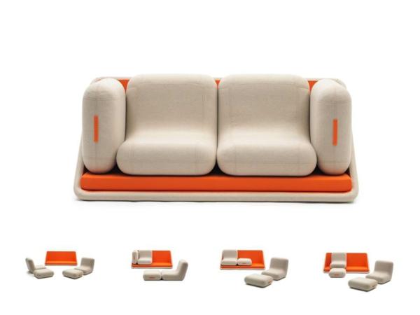 canapé-lit-design-en-beige-et-orange