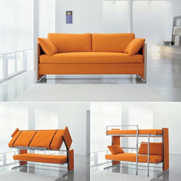 canapé-lit-design-jaune