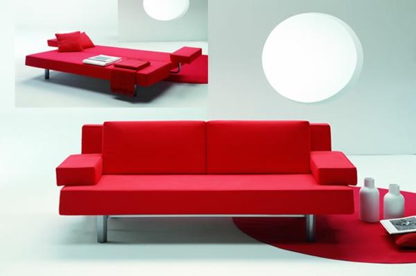 canapé-lit-design-rouge