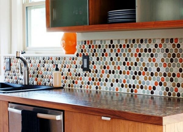 choisir un carrelage murale de cuisine pour une ambiance fraiche et accueillante - Faience Multicolore Cuisine