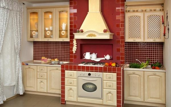 carrelage-mural-de-cuisine-en-rouge