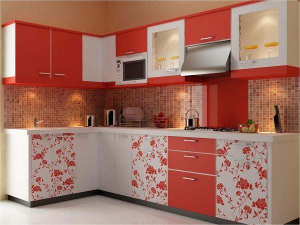 Choisir un carrelage mural de cuisine pour une ambiance - Faience cuisine rouge et blanc ...