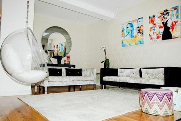 chaise-suspendue-dans-une-chambre-de-fille