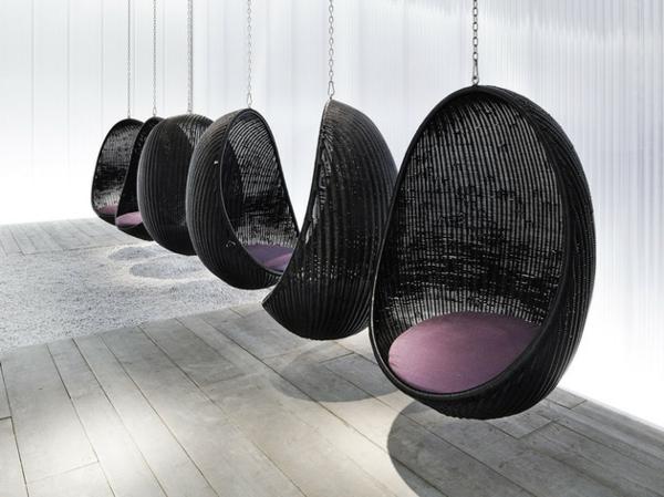 la chaise suspendue vous offre un confort amusant. Black Bedroom Furniture Sets. Home Design Ideas