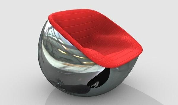 chaises-contemporaines-chaise-en-acier-et-textile