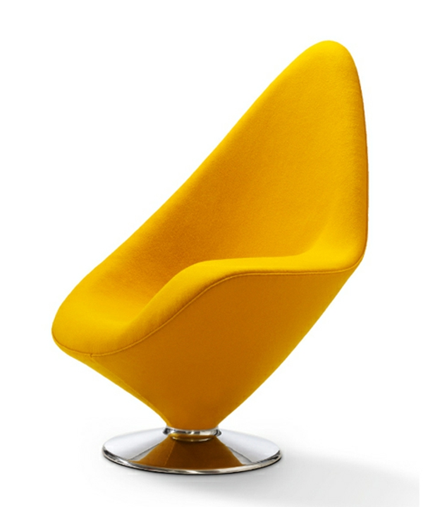 chaises-contemporaines-chaise-en-jaune