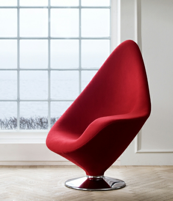 chaises-contemporaines-chaise-moderne-rouge