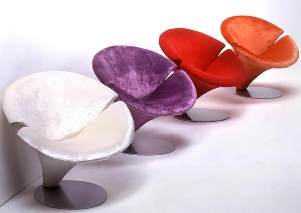 chaises-contemporaines-fleurs