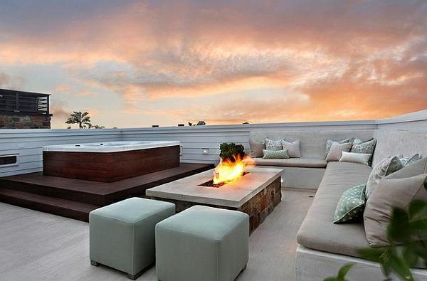 décoration-toit-terrasse-avec-cheminee