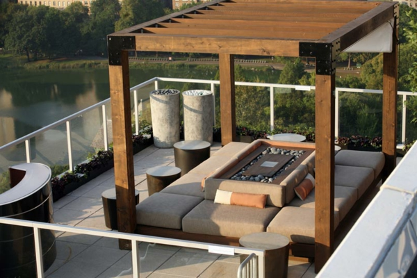 décoration-toit-terrasse-avec-pergola
