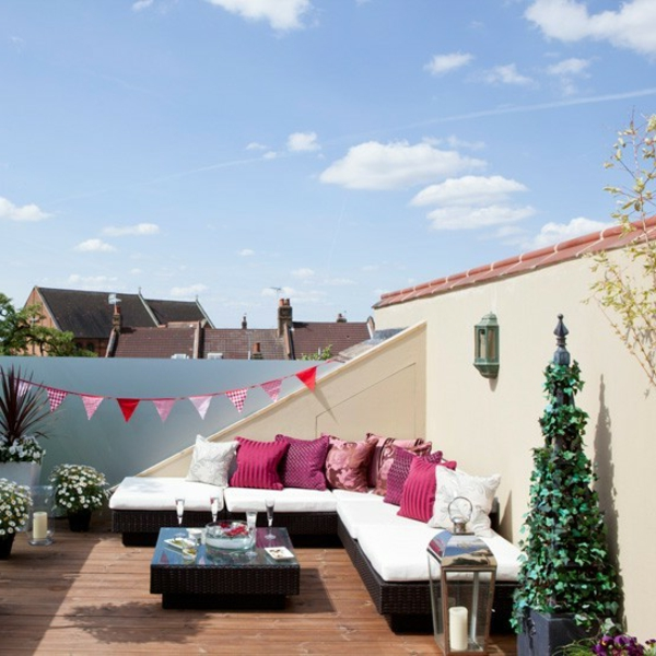 La d coration de toit terrasse des id es cr atives en photos inspirantes for Deco terrasse design