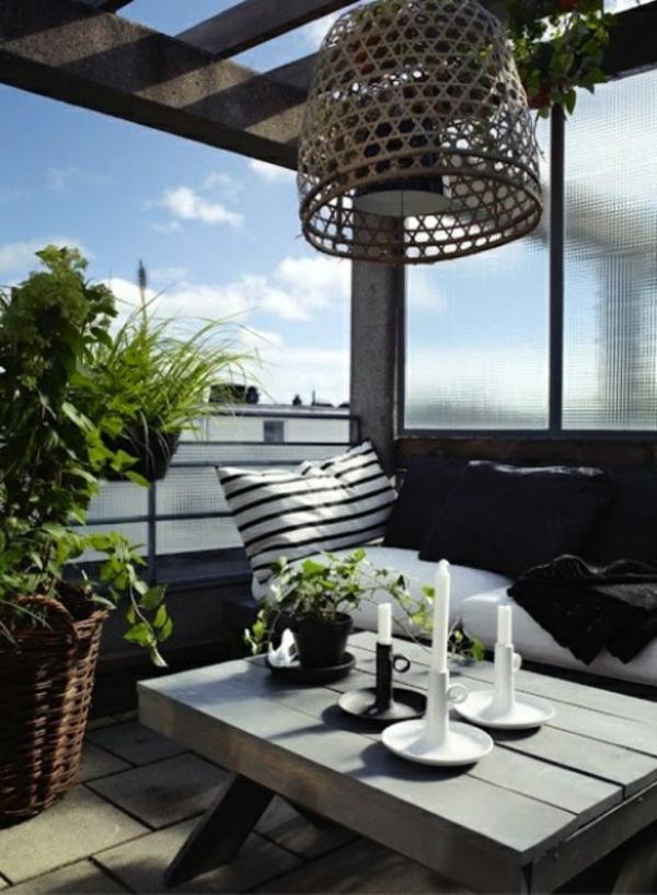 décoration-toit-terrasse-idee-lustre