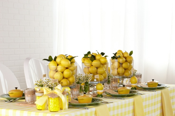 Decoration mariage couleur jaune id es et d 39 inspiration for Decoration jaune