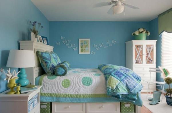 Wandgestaltung Wohnzimmer: Chambre bleu fille deco chambre ado fille ...