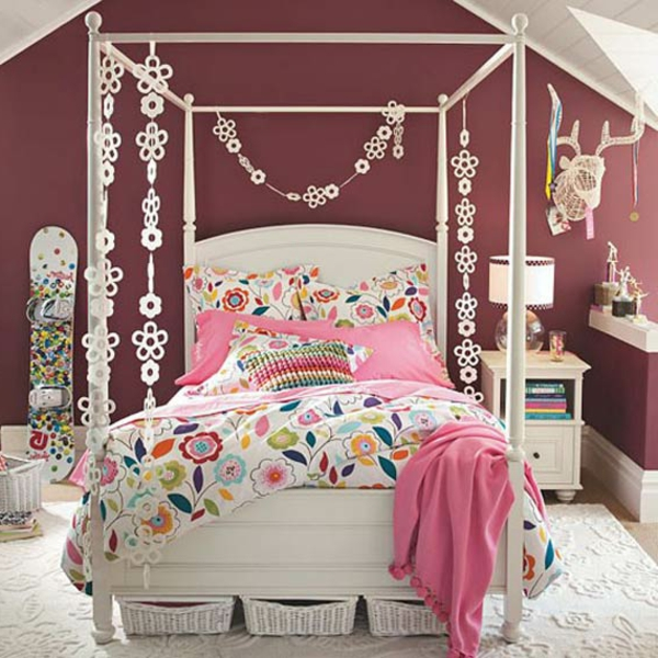 La d co chambre ado fille esth tique et amusante for Decoration chambre ado style americain