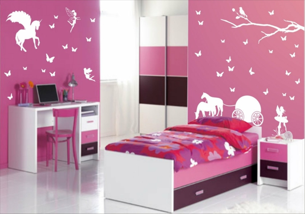 photos chambre fille rose et blanc avec des id es int ressantes pour la. Black Bedroom Furniture Sets. Home Design Ideas