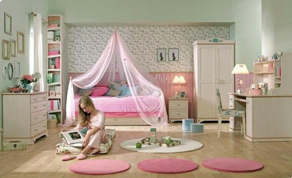 deco-chambre-ado-fille-tapis-ronds
