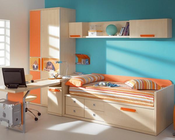 deco-chambre-enfant-mur-bleus