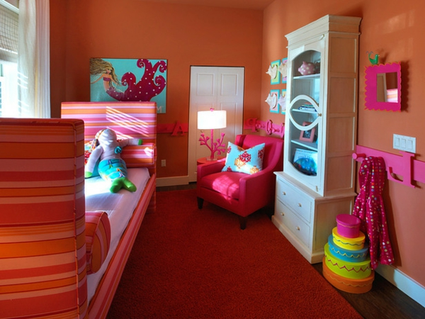 Deco chambre enfant orange