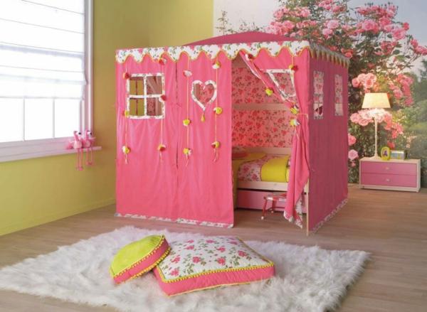 deco-chambre-enfant-rose-tente