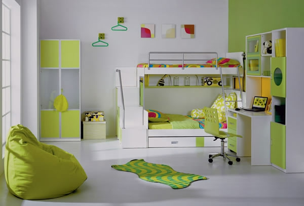 d co chambre enfant vert d co sphair. Black Bedroom Furniture Sets. Home Design Ideas