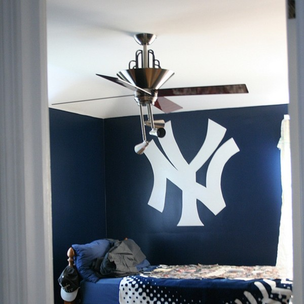 housse de couette new york deco chambre new york ado tabouret rouge new york yankees bedroom