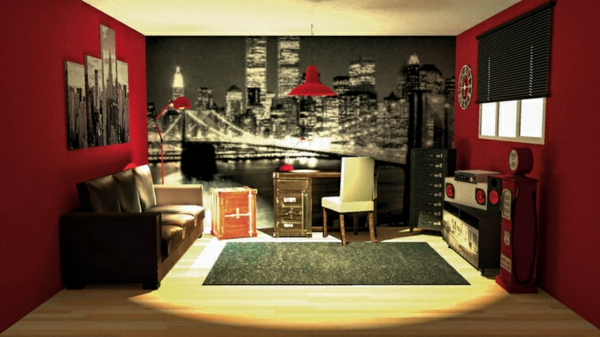 idee deco chambre ado fille theme new york. Black Bedroom Furniture Sets. Home Design Ideas