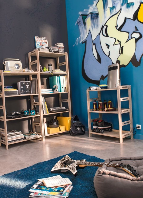 idee tapisserie chambre ado garcon avec des id es int ressantes pour la. Black Bedroom Furniture Sets. Home Design Ideas