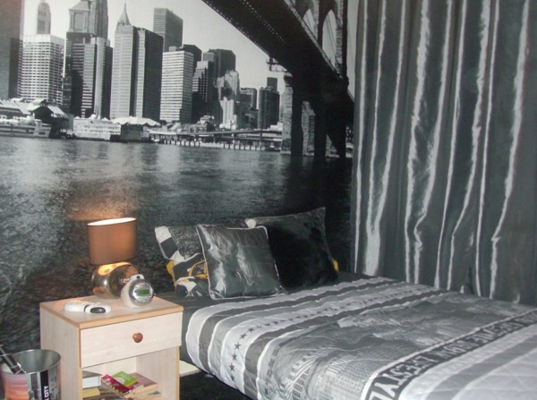 cool with chambre theme new york. Black Bedroom Furniture Sets. Home Design Ideas