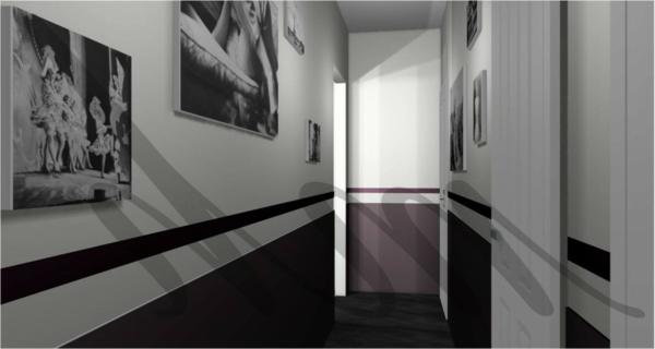 La d co couloir des astuces pour une ambiance agr able partout chez soi - Tableau pour deco couloir ...