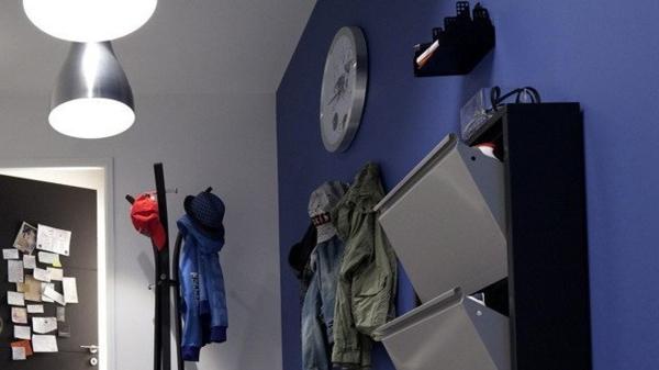 deco-couloir-peinture-teintes-vives