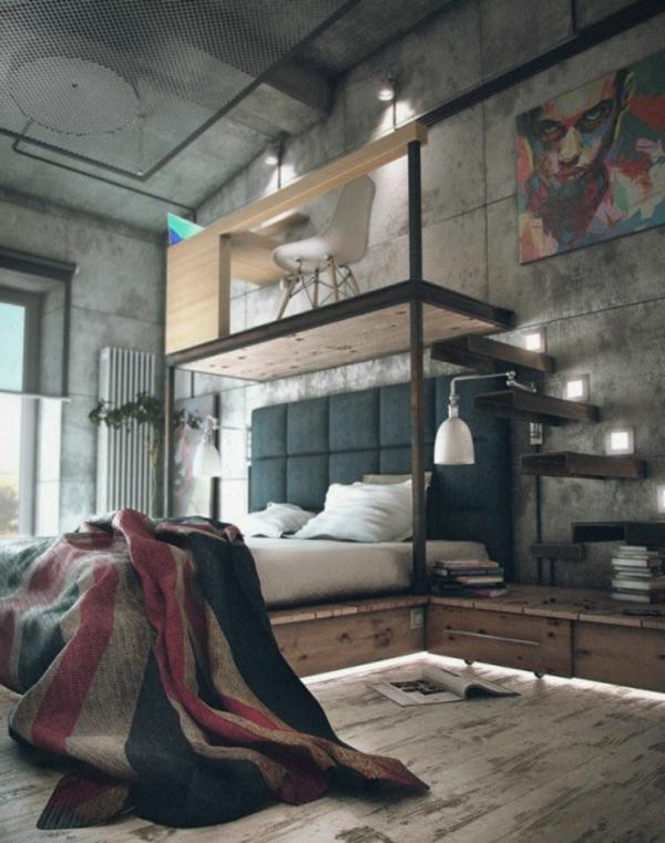 La d co loft industriel tendance et esth tisme for Chambre style loft industriel