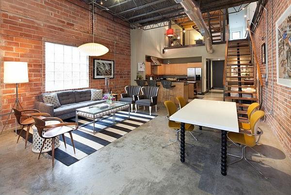 deco-loft-industriel-chaises-jaunes