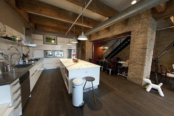 La d co loft industriel tendance et esth tisme - Cuisine loft industriel ...