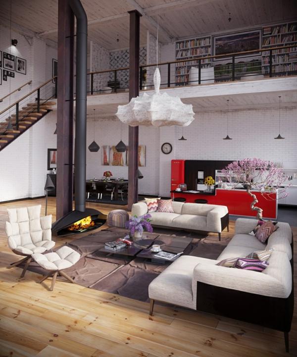 deco-loft-industriel-escalier-cheminee