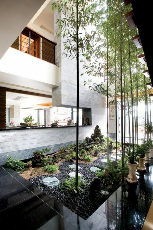 Id es de jardin zen for Decoration jardin interieur
