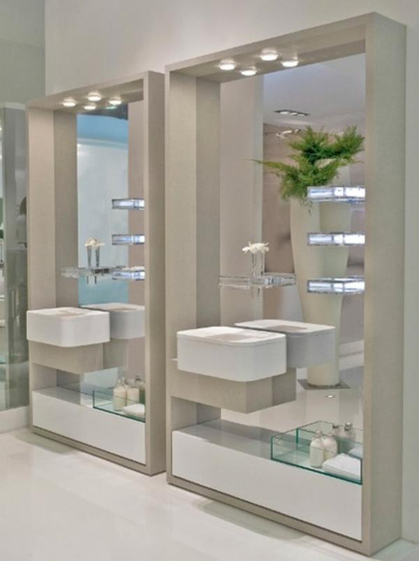 Id es d 39 clairage de miroir pour la salle de bain for Miroir de salle de bains avec eclairage