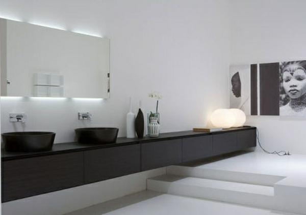 double-contemporain-éclairage-de -miroir-pour-la-salle-de-bain