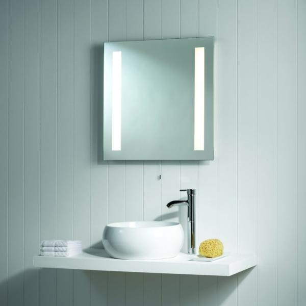 Eclairage salle de bain au dessus miroir eclairage salle for Miroir pour salle de bain