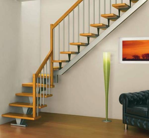 Un escalier demi tournant embellit vos int rieurs modernes Escalier bois moderne